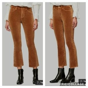 FRAME DENIM Le Crop Mini Boot Velvet Brown Jeans